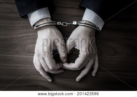 Businessman Caught With Cuffs For Corruption And Stealing Scams And Bribery Of Banks In A Million Do