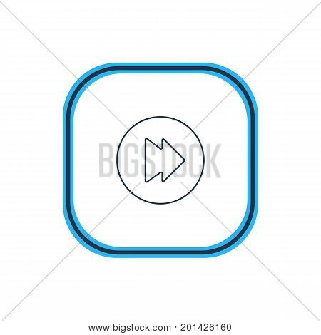 Beautiful Music Element Also Can Be Used As Advanced  Element.  Vector Illustration Of Forward Outline.