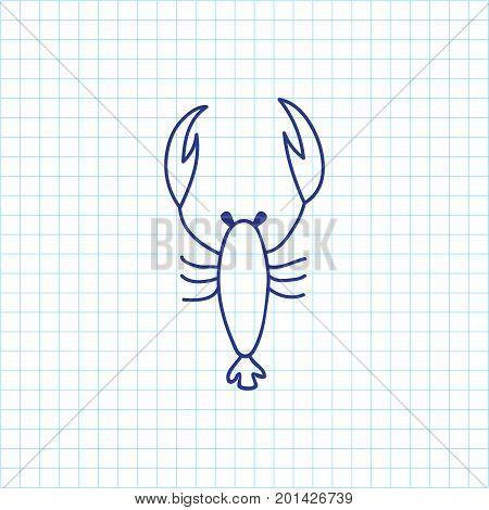 Vector Illustration Of Zoo Symbol On Scorpion Doodle