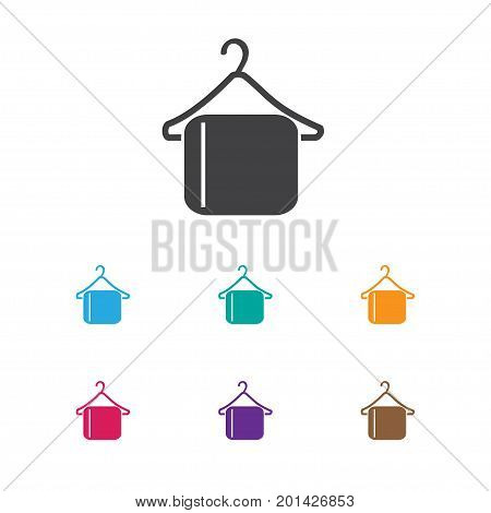 Vector Illustration Of Plaza Symbol On Clothing Hook Icon