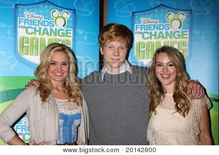 LOS ANGELES - MAY 14:  Tiffany Thornton, Adam Hicks, Bridgit Mendler at the Disney ABC Television Group May Press Junket 2011 at ABC Building on May 14, 2011 in Burbank, CA