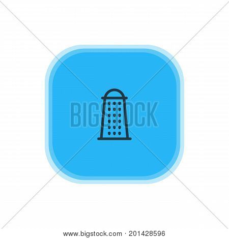 Beautiful Kitchenware Element Also Can Be Used As Slicer Element.  Vector Illustration Of Grater Icon.