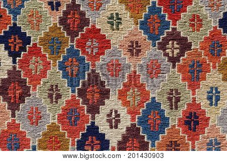 ornament pattern rug background of handmade kilim