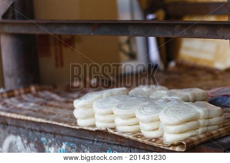 Sulguni Cheese Close Up, Street Market Showcase.