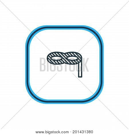 Beautiful Banquet Element Also Can Be Used As Masquerade Element.  Vector Illustration Of Carnaval Mask Outline.