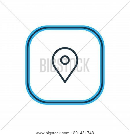 Beautiful App Element Also Can Be Used As Pinpoint Element.  Vector Illustration Of Location Outline.