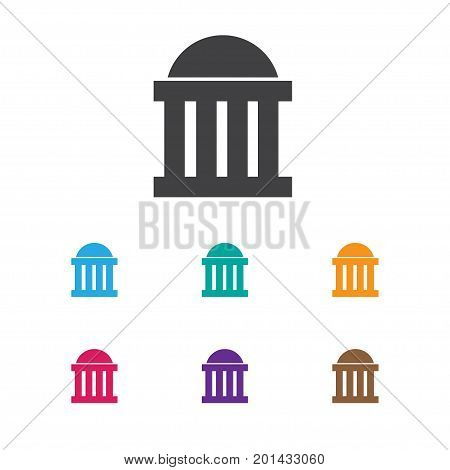 Vector Illustration Of Education Symbol On Courthouse Icon