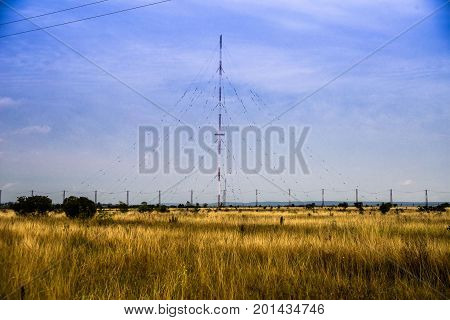 TV and radio towers. Communication radio stations, for radio signal transmission