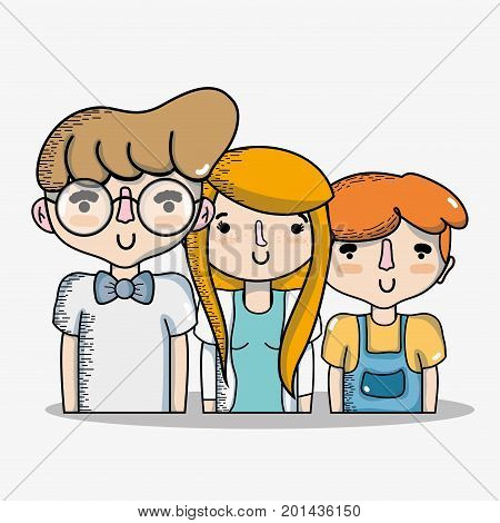 diferent people together with hairstyle design vector illustration