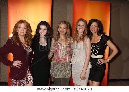 LOS ANGELES - MAY 14:  Lea Thompson, Vanessa Marano, Marlee Matlin, Katie Leclerc, Constance Marie at the ABC Television Group May Press Junket 2011 at ABC Building on May 14, 2011 in Burbank, CA