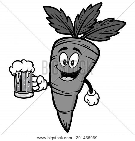 A vector illustration of a cartoon Carrot.