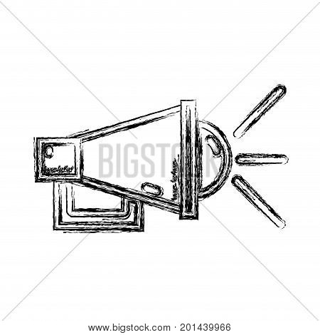 figure megaphone to communication mesage in the public vector illustration