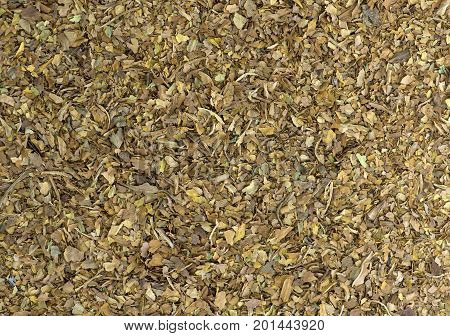 full screen shot of raw tobacco leaves unprocessed ideal for copy space text or for used of textures of backgrounds