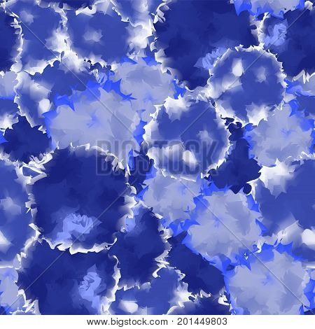 Indigo Seamless Watercolor Texture Background. Fascinating Abstract Indigo Seamless Watercolor Textu