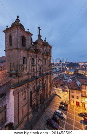 Sao Lourenco church in Porto at sunrise Porto Norte Region Portugal.