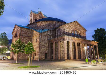 St. Stephan Church in Karlsruhe. Karlsruhe Baden-Wurttemberg Germany.
