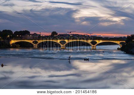 Pont des Catalans in Toulouse. Toulouse Occitanie France.