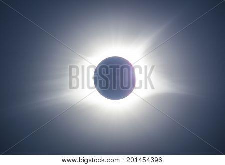 Total Solar Eclipse Over Clemson, South Carolina, Usa