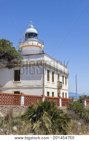 Oropesa del Mar Lighthouse. Oropesa del Mar Valencian Community Spain.