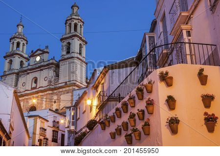 Parish of Our Lady of the Incarnation in Olvera. OLvera Andalusia Spain.