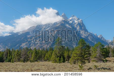 Teton Range In Grand Teton National Park