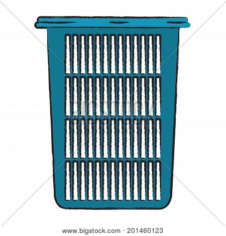 colored blurred silhouette of tall laundry basket without handles vector illustration