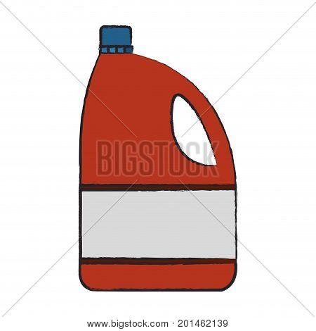 colored blurred silhouette of bleach clothes bottle vector illustration