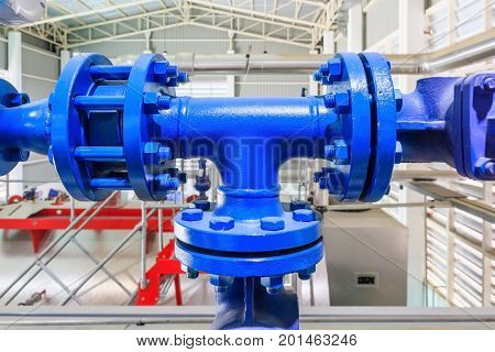 oil and gas pipes flange with bolts Pipeline at power plant
