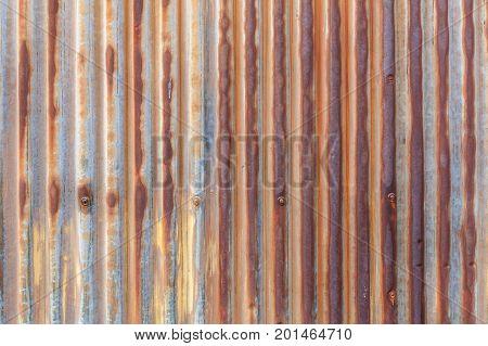 Rusty galvanized iron sheet background pattern texture