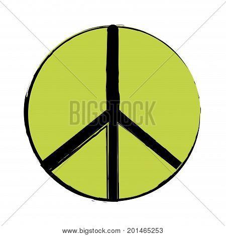hippie peace and love symbol design vector illustration