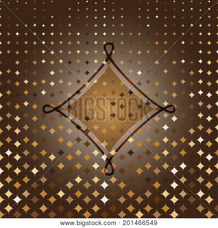 Rhombus custom gold halftone abstract background stock vector