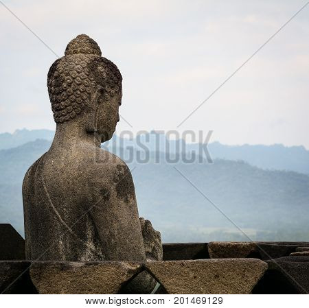 The Temple Of Borobudur On Java In Indonesia