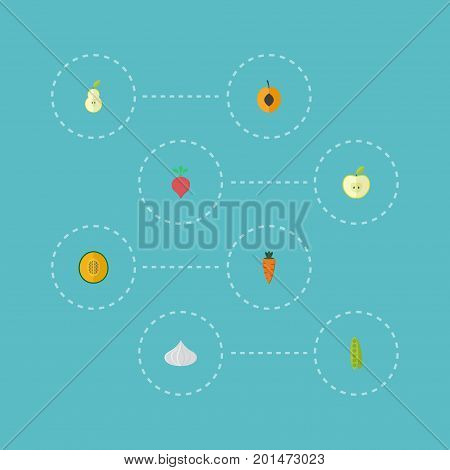 Flat Icons Bean, Duchess, Jonagold And Other Vector Elements