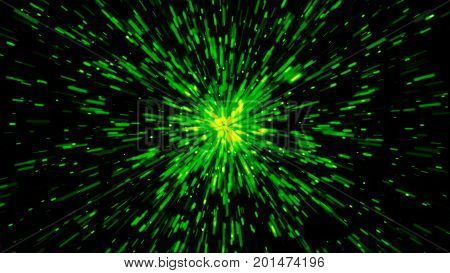 Abstract background with Hyperspace Travel. 3d rendering