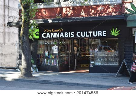 VANCOUVER, BC AUGUST 26, 2017.  Cannabis Culture is a shop owned by marijuana activist Marc Emory to sell marijuana related products.