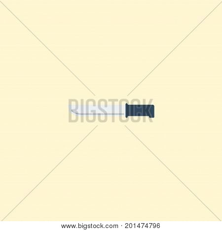 Flat Icon Knife Element. Vector Illustration Of Flat Icon Bayonet Isolated On Clean Background