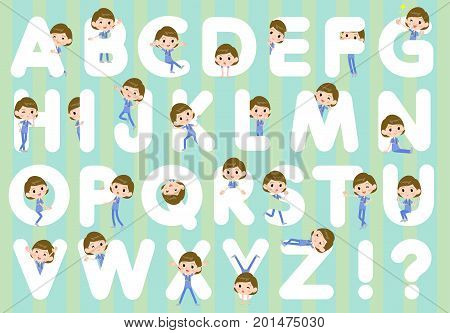 Surgical Operation Blue Wear Women_a To Z