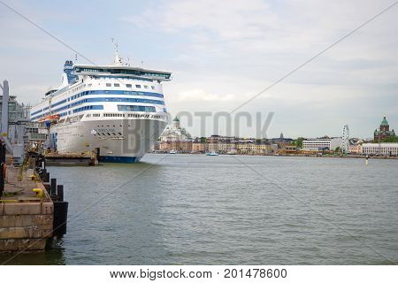 HELSINKI, FINLAND - JUNE 11, 2017: The cruise ferry
