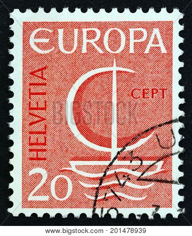 SWITZERLAND - CIRCA 1966: A stamp printed in Switzerland from the