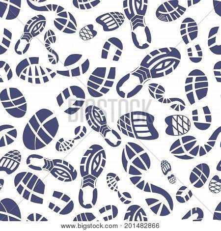Sneaker tread pattern vector illustration on white background