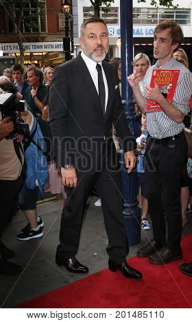 LONDON, UK, AUG 01 2017: David Williams arrives to the Gangsta Granny play press night picture taken from the street