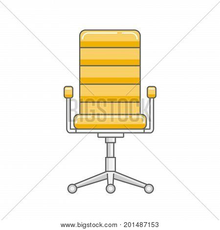 Office chair in a linear style on a white background. Computer armchair. Job vacancy. Vector illustration
