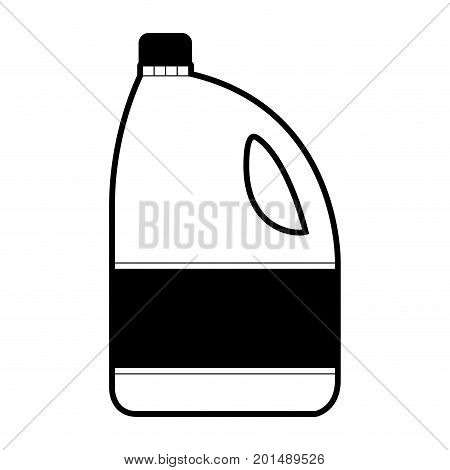 black sections silhouette of bleach clothes bottle vector illustration