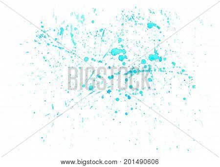 Watercolor hand drawn background, blue aquarelle water drops