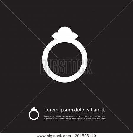 Wedding Vector Element Can Be Used For Wedding, Engagement, Diamond Design Concept.  Isolated Engagement Icon.