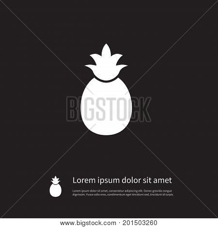 Ananas Vector Element Can Be Used For Ananas, Pineapple, Tropical Design Concept.  Isolated Pineapple Icon.