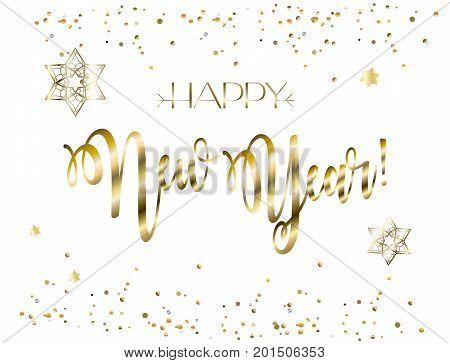 Happy New Year! Rosh Hashanah greeting card - Jewish New Year. Text