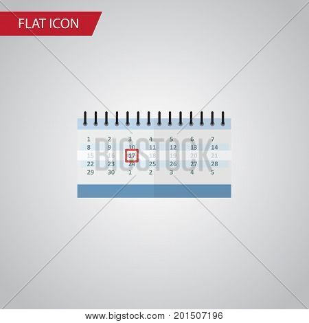 Date Block Vector Element Can Be Used For Calendar, Date, Almanac Design Concept.  Isolated Calendar Flat Icon.