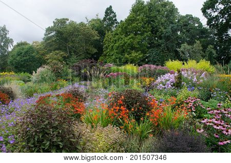 Large traditional english borders of hardy perennials