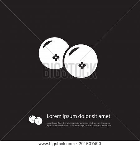 Sourness Vector Element Can Be Used For Ripe, Cranberry, Sourness Design Concept.  Isolated Ripe Icon.